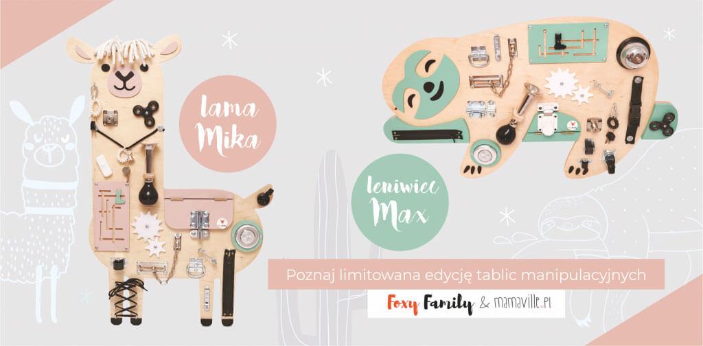Tablice manipulacyjne personalizowane Foxy Family