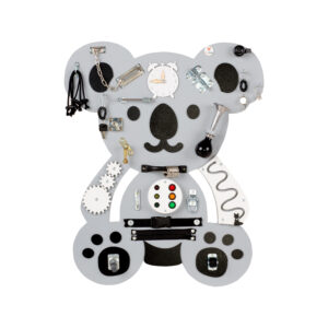 Tablica manipulacyjna, manualna, sensoryczna miś Koala Henio Tuliński w duchu Montessori Foxy Family